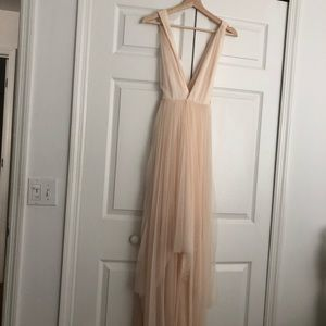 Cream Nasty Gal dress